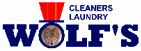 Wolf's Cleaners Logo